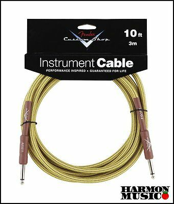 Fender Custom Shop 10' Foot ft Guitar Cable TWEED Straight Straight  NEW