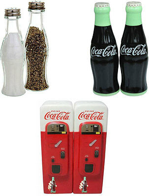 Coke / Coca Cola Salt & Pepper Pots / Shakers Retro Diner Style Official In Box