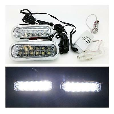 2 x LED Interior Footwell & DRL Lights White Daytime Running Lights - FORD FOCUS