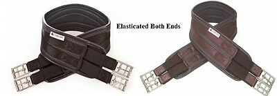 """Hy COMFORT  WAFFLE GIRTH 36""""-60"""" BLACK/BROWN **ELASTICATED ENDS**"""