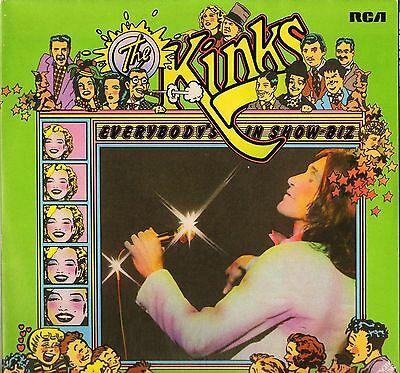 KINKS everybody's in showbiz everybody's a star SR 6065/1-2  DOUBLE LP PS EX/VG+