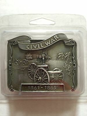 Civil War  1861-1865 Waist Belt Buckle New  3  Inchs  Pewter In Color