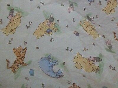 Disney Classic Winnie the Pooh Eeyore Tigger Piglet Crib/Toddler Bed Sheet