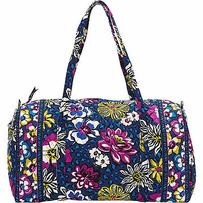 NEW WITH TAGS VERA BRADLEY AFRICAN VIOLET LARGE DUFFEL  DUFFLE