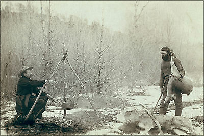 24x36 Poster; Deer Hunt Near Deadwood In Winter '87 And '88