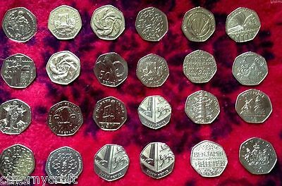 Various Rare Commemorative 50p Coins (1997-2014) 4 Minute Mile Scouts Girlguides