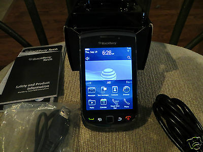BlackBerry Torch 9800-4GB-Black(AT&T)Smartphone-3G-GPS-WiFi-Touch Scrn-5MP Cam