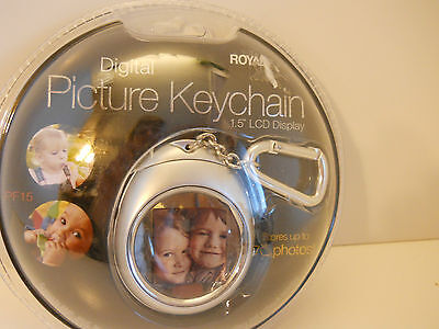 ROYAL DIGITAL PICTURE KEYCHAIN 1.5 LCD DISPLAY NIB!