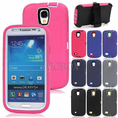 New Rugged 3 Layer Como Shockproof Heavy Duty Case Cover + Belt Clip for Samsung
