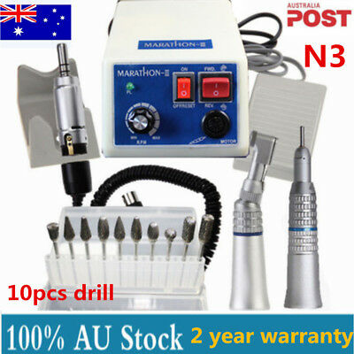 Dental Marathon Micromotor 35K RPM N3 Polisher+Contra Angle Straight Handpiece