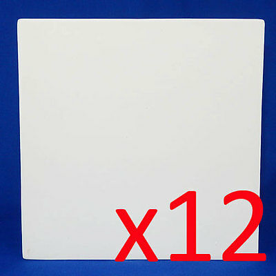 Ceramic Bisque Ready to Paint Your Own Pottery White Square Tiles 20cm x 12