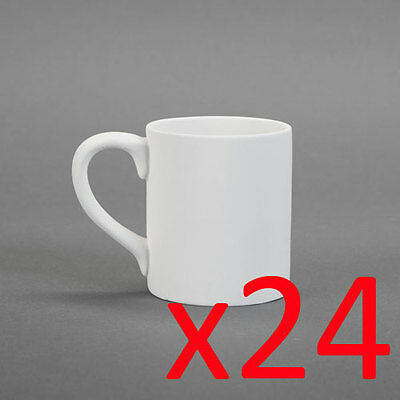Ceramic Bisque Ready to Paint Your Own Pottery Coffee Mug 12oz x 24