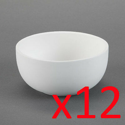 Ceramic Bisque Ready to Paint Your Own Pottery Cereal Pasta Noodle Bowls x 12