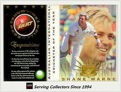 Ultra Rare-1997/98  Select Cricket Int'l Player Of The Year Shane Warne-011/100