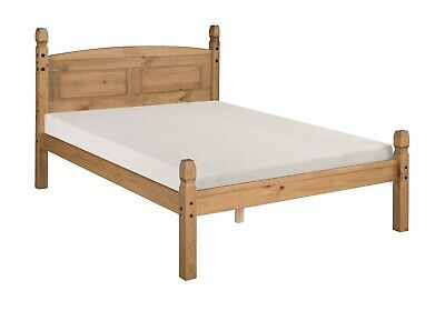 """Mercers Furniture® Corona Mexican Pine 4'6"""" Double Low Foot End Bed Frame"""