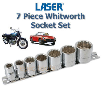 Laser 2919 Set de 9 douilles Whitworth