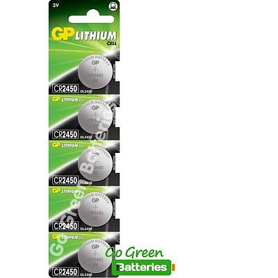5 x GP CR2450 3V Lithium Coin Cell Battery 2450 DL2450