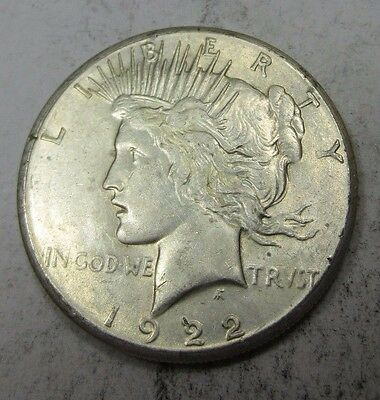 1922-S Peace Dollar // LOW MINTAGE! // 90% Silver (P920)