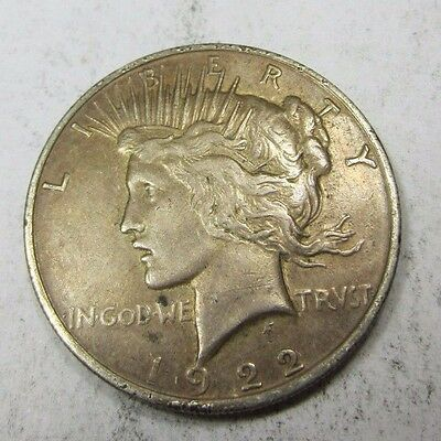 1922 Peace Dollar // LOW MINTAGE! // 90% Silver (P917)