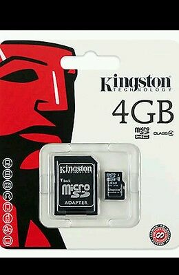 New Kingston Micro SD 4GB SDHC Memory Card For Mobile Phone Camera Class 4
