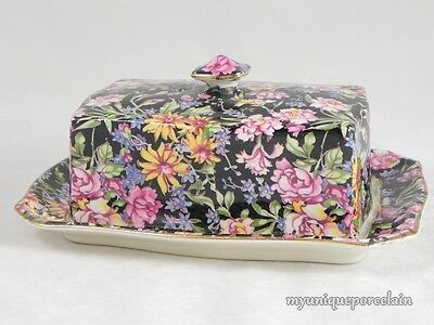 VINTAGE ROYAL WINTON GRIMWADES ENGLAND COVERED BUTTER CHEESE DISH WITH LID