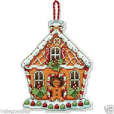 Dimensions Counted Cross Stitch kit  ~ GINGERBREAD HOUSE ORNAMENT #70-08917 Sale