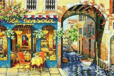 """Dimensions Gold Counted Cross Stitch kit 16"""" x 11"""" CHARMING WATERWAY #70-35306"""