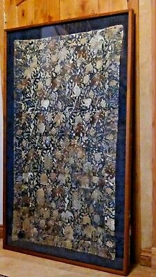 ANTIQUE 18c JAPANESE BUDDHIST MONK'S KESA SILK ROBE EMBROIDERY EDO PERIOD