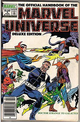 Official Handbook of the Marvel Universe Deluxe Edition #4-5, 7 (VF/NM)