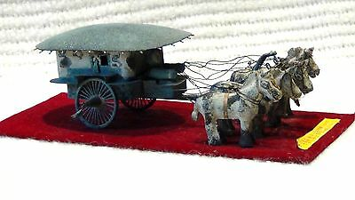 Antique 19C Chinese Cast Iron Chinese Emperor's Carriage Model Copy 14C Original