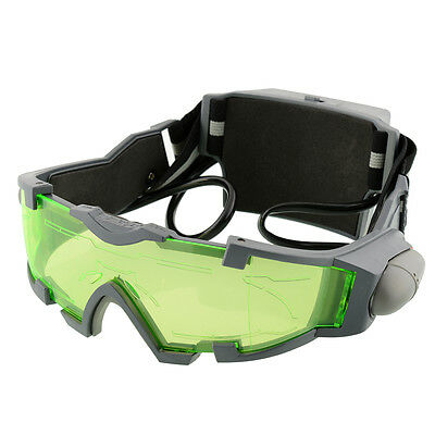 New Adjustable Night Vision Goggles Eye shield Green Lens view Glasses
