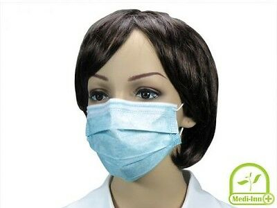 Medi-Inn Disposable Masks Surgical Medical Dental Flu Face Dust Cleaning Germs