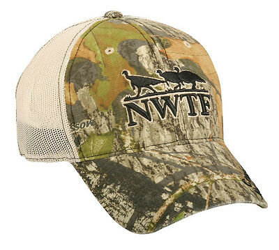 NWT,  NWTF, Mossy Oak Obsession  camo,  Embroidered, Turkey  hunting cap/hat