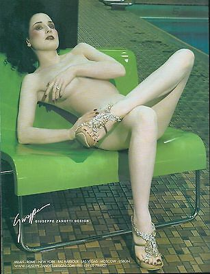 ▬► PUBLICITE ADVERTISING AD GIUSEPPE ZANOTTI design Chaussures femme mode 2005