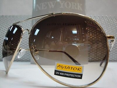 Mens or Women OVERSIZE VINTAGE RETRO Style SUNGLASSES Huge Gold Wire Metal Frame