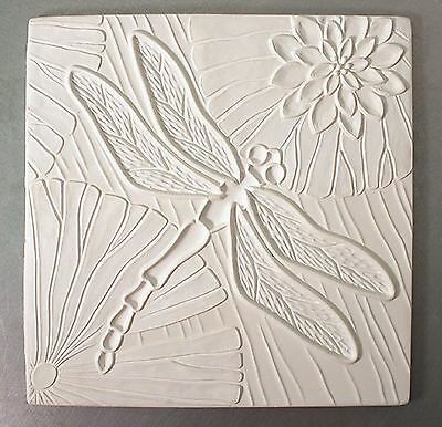10.25x10.25 Inch Dragonfly Texture Tile Mold for Glass Slumping Kiln $35 Value