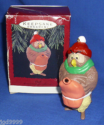 Hallmark Winnie the Pooh Collection Ornament Owl 1993 Used with BAD Box