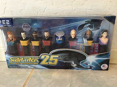 STAR TREK THE NEXT GENERATION 25TH ANNIVERSARY PEZ CANDY DISPENSER TOY SET OF 8