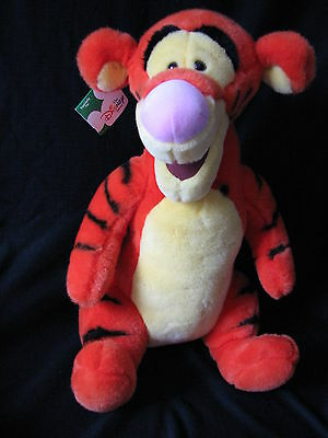 """Large 16"""" TIGGER Disney Store Exclusive Stuffed Tiger from Winnie the Pooh w/Tag"""