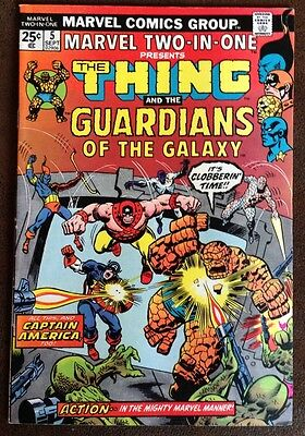 Marvel Two In One #5 Mid To Higher Grade.  2nd Guardians Of The Galaxy
