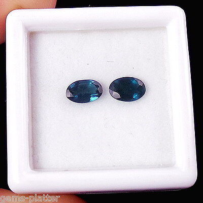 Perfect Matched Pair Natural Top PARAIBA TOURMALINE for Earrings 0.60CT/6mm Oval