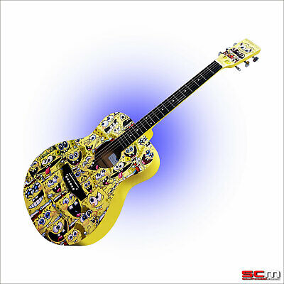 Spongebob Squarepants Black Electric Guitar & Amplifier Package in Coloured Box