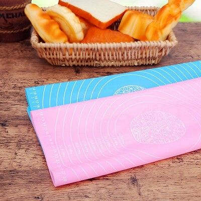 Silicone Extra Large Baking Sheet/Work Mat/Pastry/Pizzas-Blue&Pink Random Color