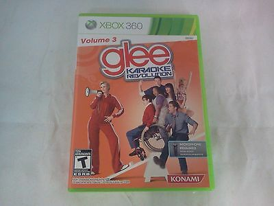 Karaoke Revolution: Glee -- Vol. 3  (Microsoft Xbox 360, 2011) GAME ONLY