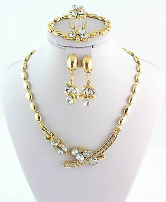2015 New Design Jewelry Set Gold Plated Women Wedding Party Crystal Jewelry Set