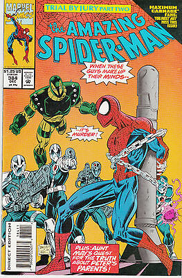 AMAZING SPIDERMAN 384...VF/NM+..1993...Maximum Carnage Tie-In!...Bargain!