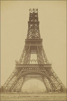 24x36 Poster; The Eiffel Tower - State Of The Construction, 1888