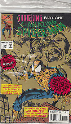 AMAZING SPIDERMAN 390...NM-...1994...Polybagged with Acetate!...Bargain!