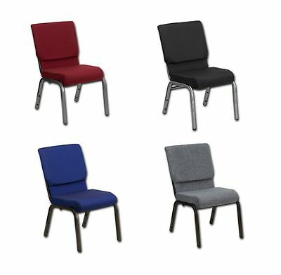 "Poker Chair comfortable thick foam 18.5"" wide seat choice of fabric & leg colors"