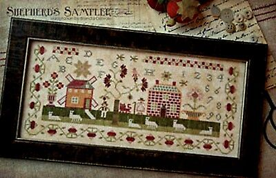 A SHEPHERD'S SAMPLER-CROSS STITCH CHART-COUNTRY STITCHES